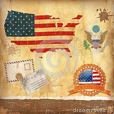 USA vector set.