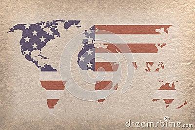 USA world map