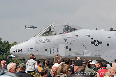 USAF A-10 Airshow Editorial Stock Photo