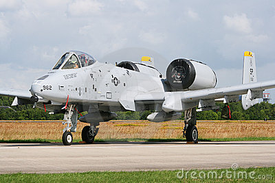 USAF A-10 tank killer Editorial Photo