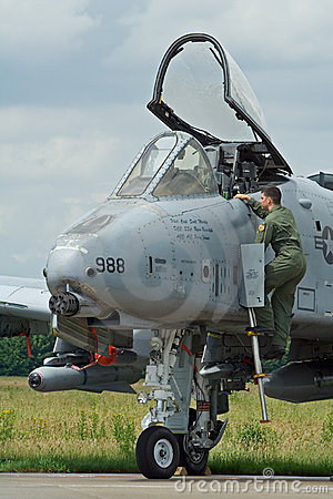 USAF A10 pilot Editorial Image
