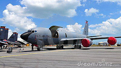 USAF Boeing military cargo plane at Airshow 2010 Editorial Photo