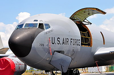 USAF Boeing military cargo plane at Airshow 2010 Editorial Stock Image