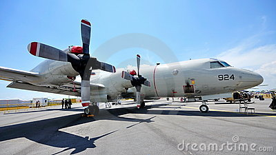 USAF Lockheed Martin P-3 Orion at Airshow 2010 Editorial Photo