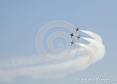 USAF Thunderbird Flyby Editorial Image