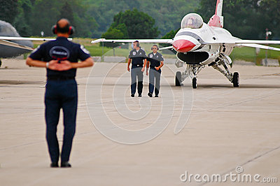 USAF Thunderbird ground team Editorial Image