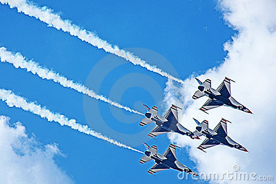 USAF Thunderbirds Demonstration TN 2011 Editorial Image