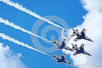 USAF Thunderbirds Demonstration TN 2011 Editorial Image