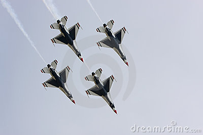 USAF Thunderbirds diamond formation Editorial Image