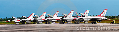 USAF Thunderbirds Pano Editorial Image
