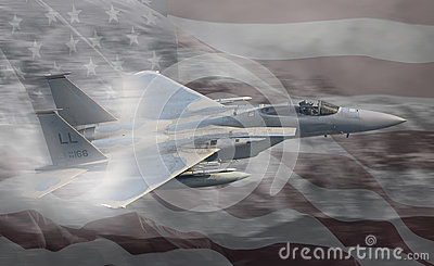 USAF United States Air Force jet Stock Photo