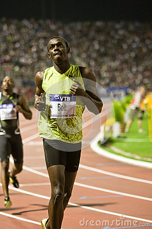 Usain Bolt Mens 100m  World Athletics Final 2009 Editorial Photo