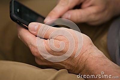 Usando el teléfono del tacto