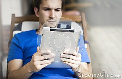 Usando la tableta