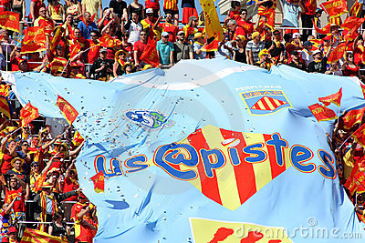 USAP Perpignan s supporters Editorial Photo