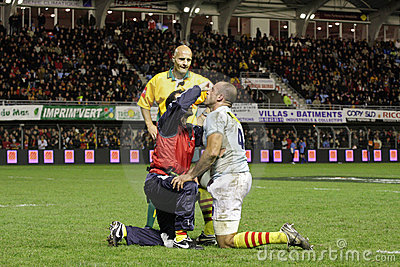 USAP vs Biarritz - French Top 14 Rugby Editorial Stock Photo
