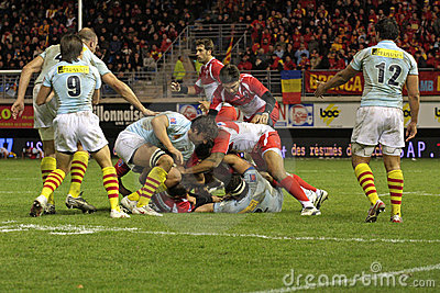 USAP vs Biarritz - French Top 14 Rugby Editorial Photo