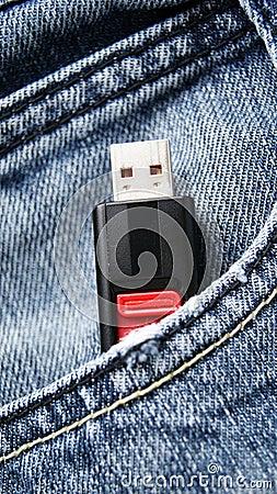 Usb-Blinken in der Tasche