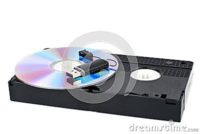 USB, CD, VHS