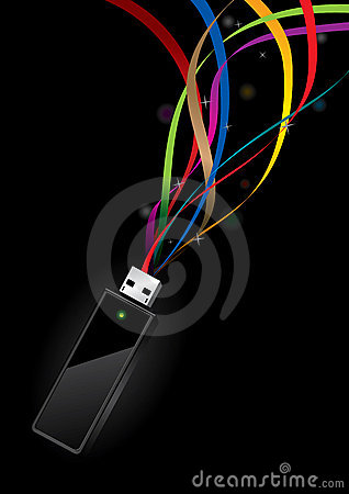 USB Disk with data transfer concept