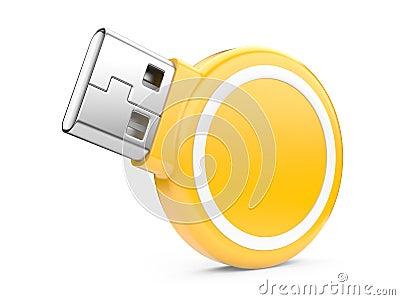 USB Flash Drive. 3d image
