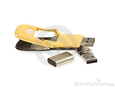 USB flash drive isolated