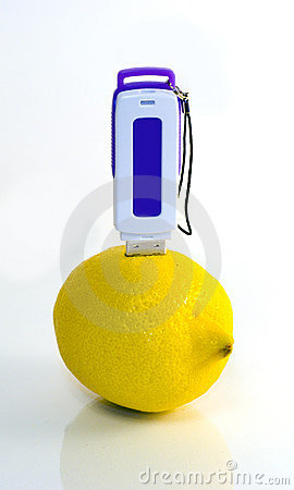 USB flash drive in lemon