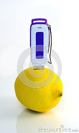 USB flash drive in lemon