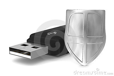 Usb flash drive on white background