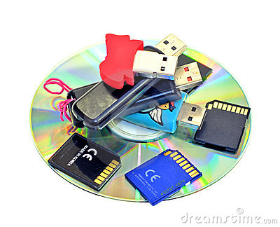 USB Flash Drives, SD cards, CDROM
