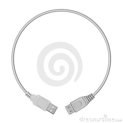 USB plugs in the form of a circle