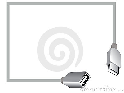 Usb professional card vector