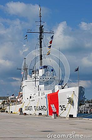 USCGC Ingrahm at dock full view, Key West Editorial Stock Image