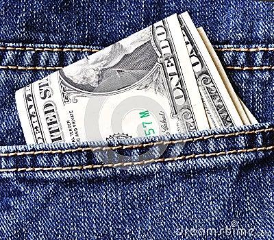 Usd in jeans pocket