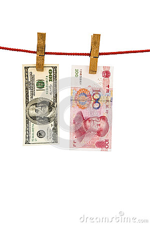 USD and RMB hanging
