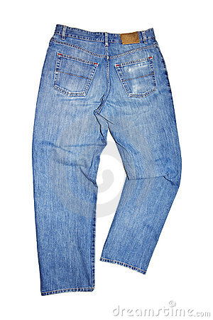 Free Used Blue Jeans Royalty Free Stock Photography - 7806087