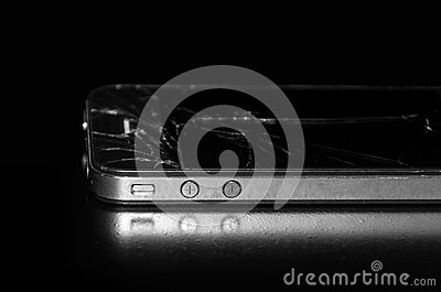 Used and broken Apple IPhone 4S Editorial Photography