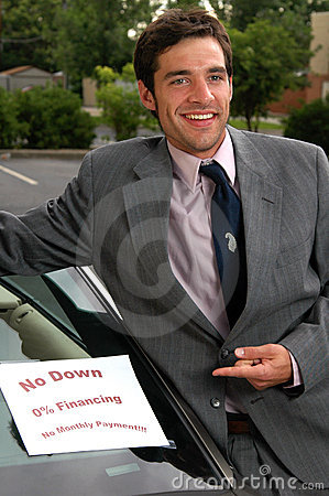 Free Used Car Salesman Royalty Free Stock Image - 889026