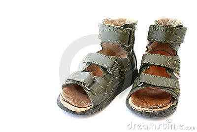 Used children s orthopaedic sandals