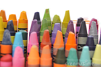 Used crayons collection