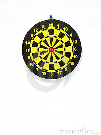 Free Used Dart Board Royalty Free Stock Image - 673716
