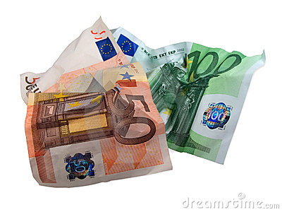 Used eur banknotes