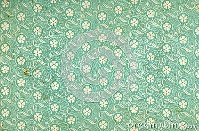 Used floral vintage wallpaper