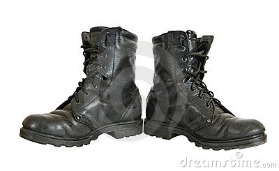 Used military boots