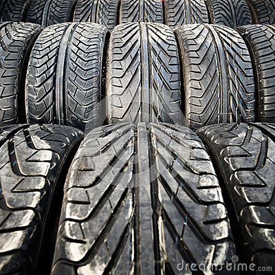 Free Used Old Car Tires Detail Pattern, Background Or Texture Royalty Free Stock Photography - 32495387