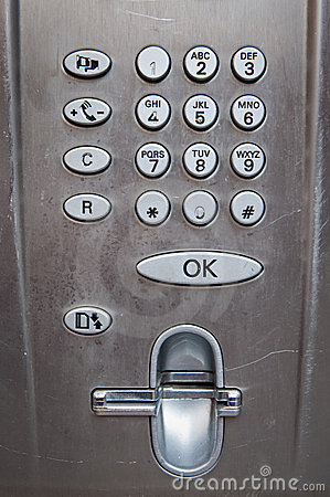 Free Used Payphone Control Panel Stock Images - 12418974