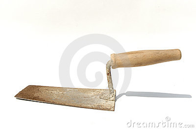 Used plasterer trowel
