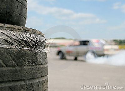 Used racing tires
