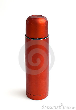 Used red thermos