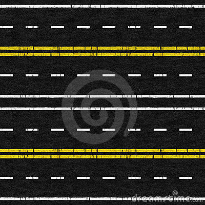 Used Road Seamless Pattern
